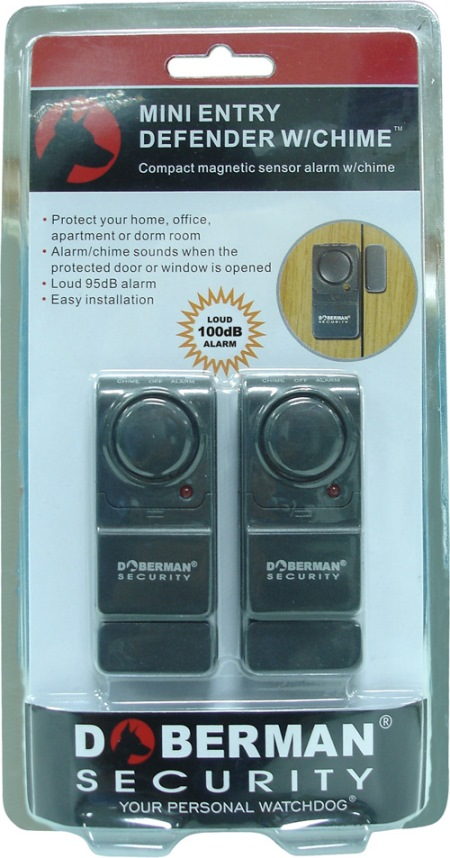 Mini Entry Defender W Chime Two Pack